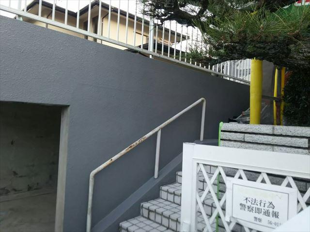 車庫塗装完了