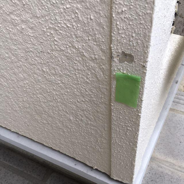 モルタル外壁の剥がれ