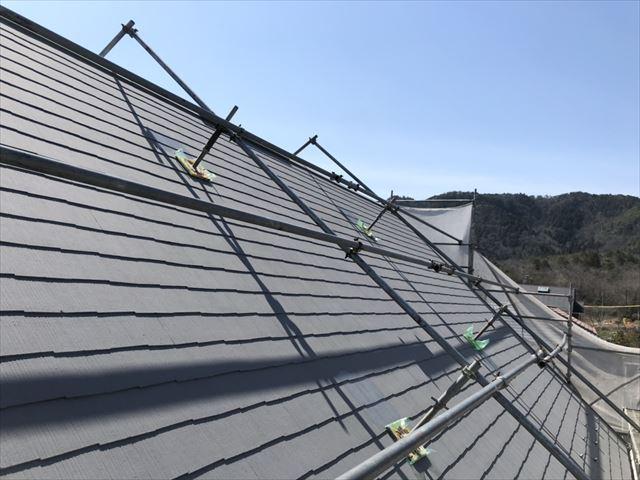 屋根の上塗り、完了です