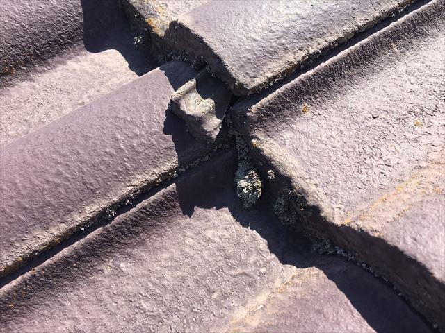屋根瓦の隙間