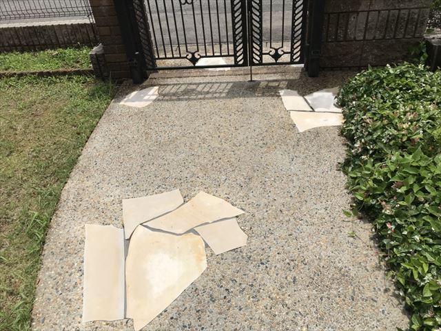 玄関アプローチの洗浄
