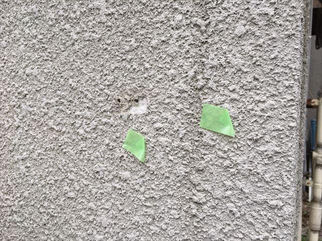 外壁の欠損、ひび割れ