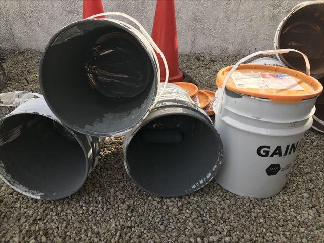 使用後の断熱塗料ガイナ