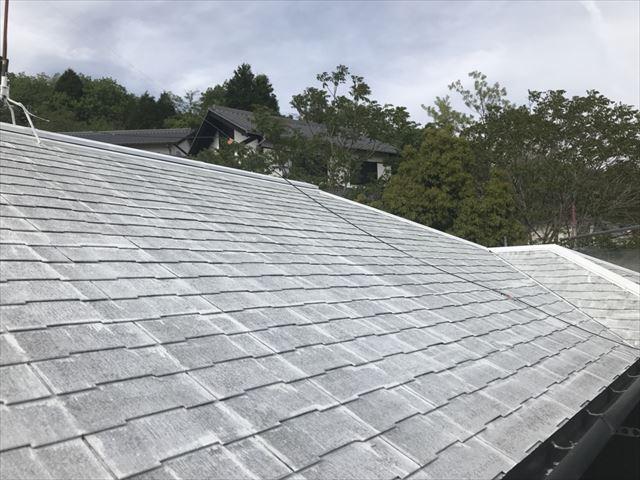 屋根の下塗り完了