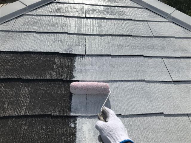 春日井市屋根の下塗り