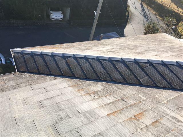 既存の屋根の色褪せ