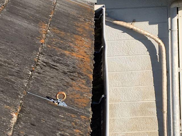 既存の屋根にサビが発生