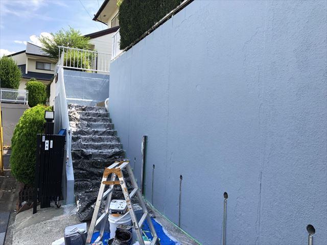 ブロック塀の塗装です