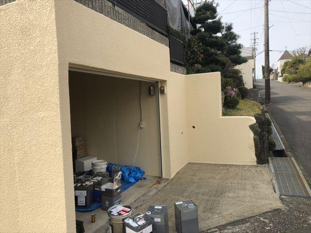 車庫の塗装、完了です