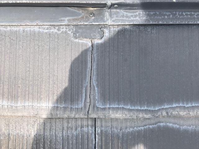 スレート屋根塗膜の劣化です
